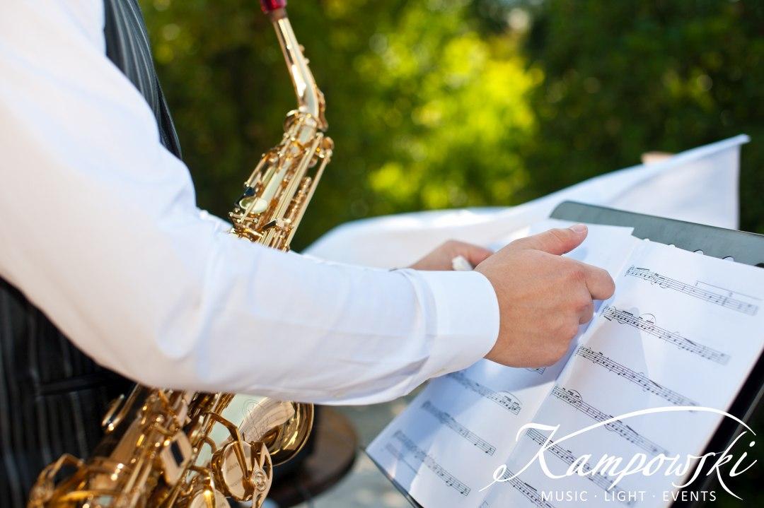 Ibiza Lounge am Saxophon zum Empfang