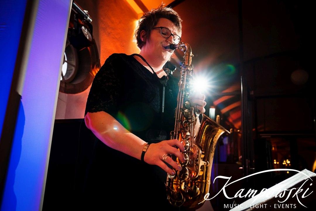 Live-Saxophon zum Empfang