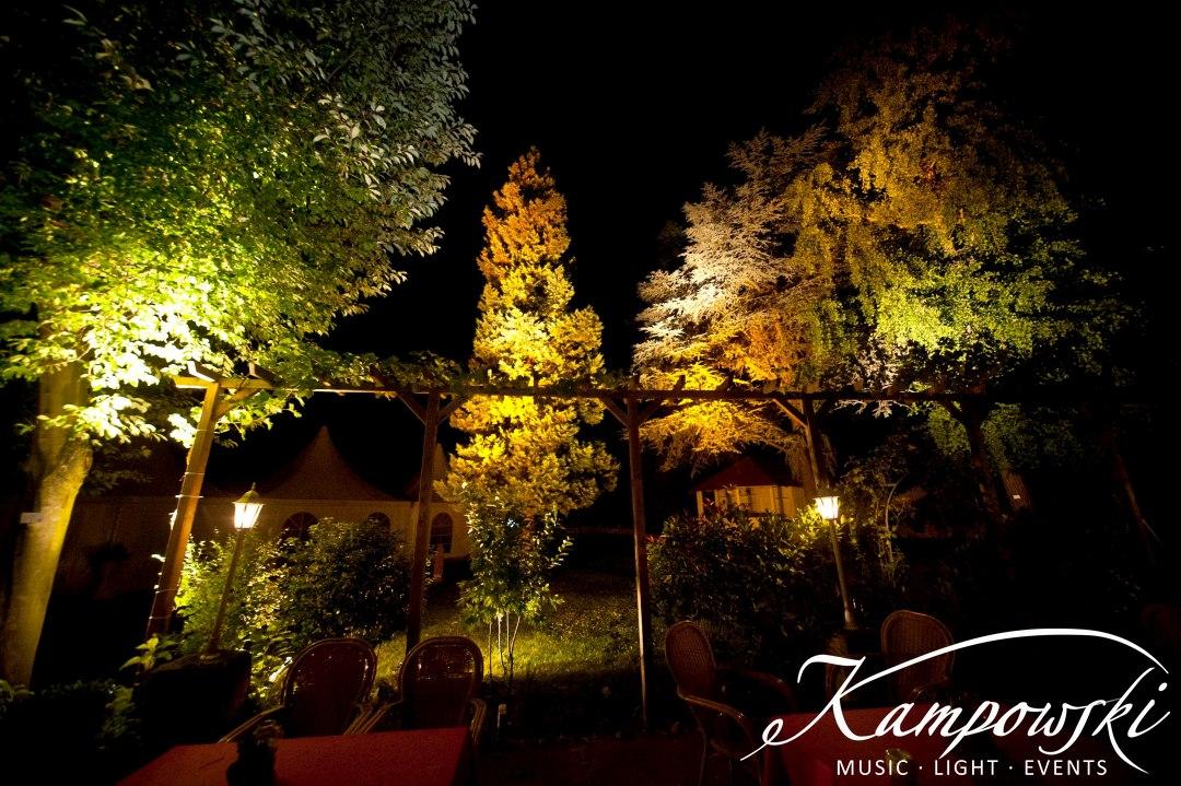 Beleuchtung Garten-Event